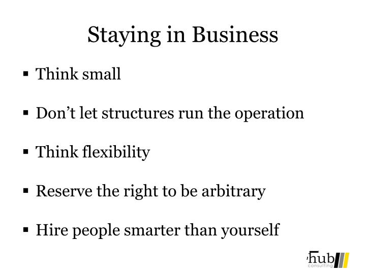Staying in Business