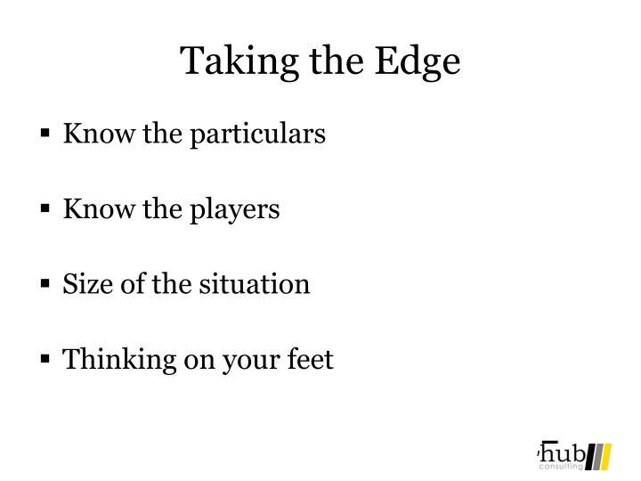 Taking the Edge
