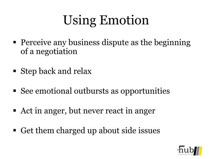 Using Emotion
