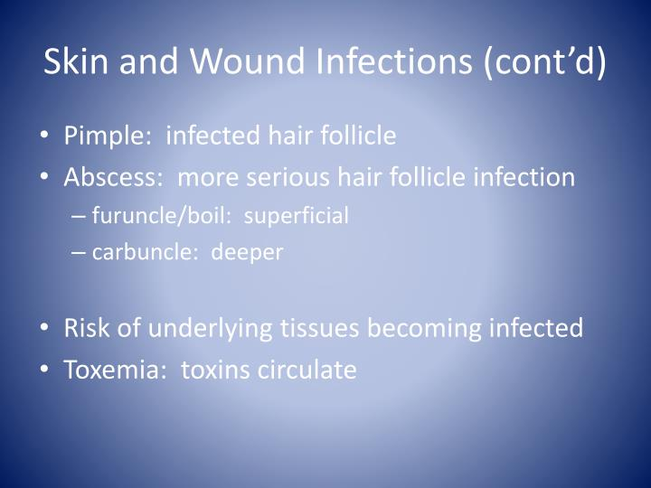 Skin and Wound Infections (cont'd)