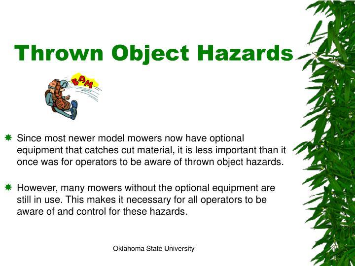 Thrown Object Hazards