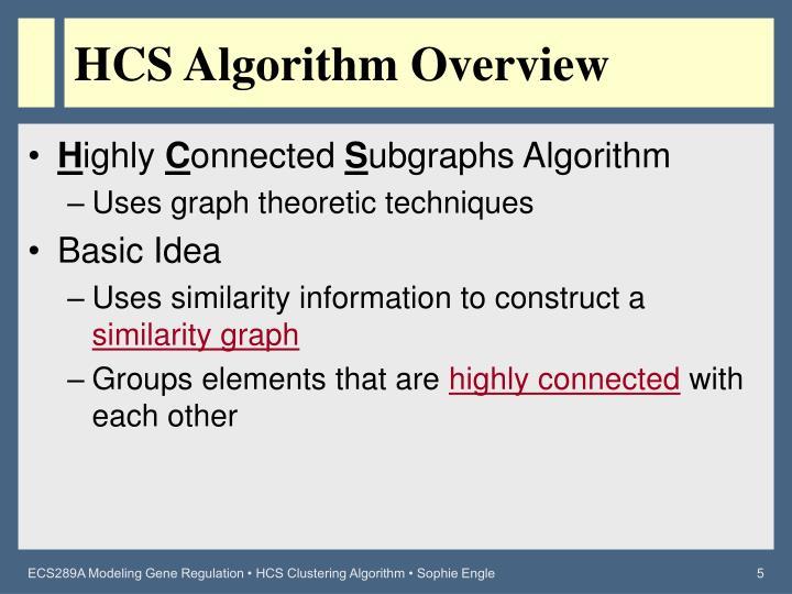 HCS Algorithm Overview