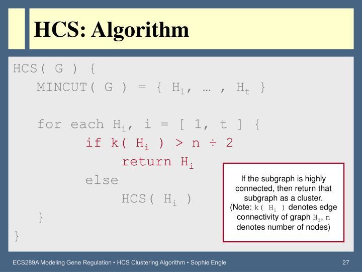 HCS: Algorithm