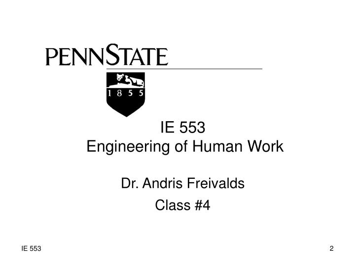 IE 553