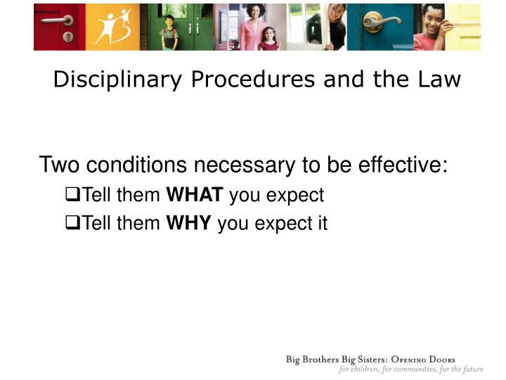 Disciplinary Procedures and the Law