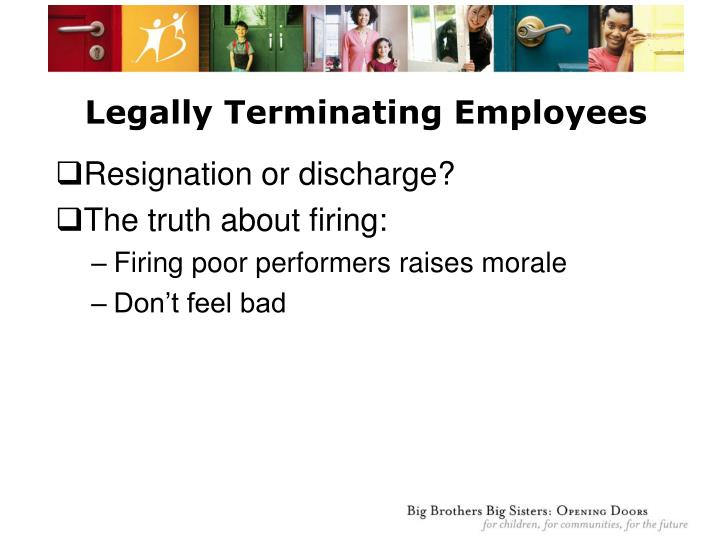 Legally Terminating Employees