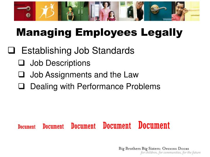 Managing Employees Legally