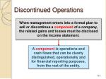 discontinued operations1