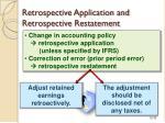 retrospective application and retrospective restatement