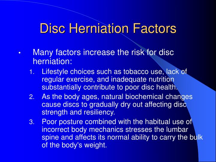 Disc Herniation Factors