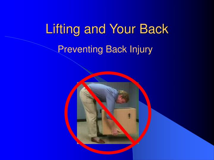 Lifting and Your Back