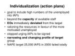 individualization action plans