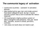 the communist legacy of activation