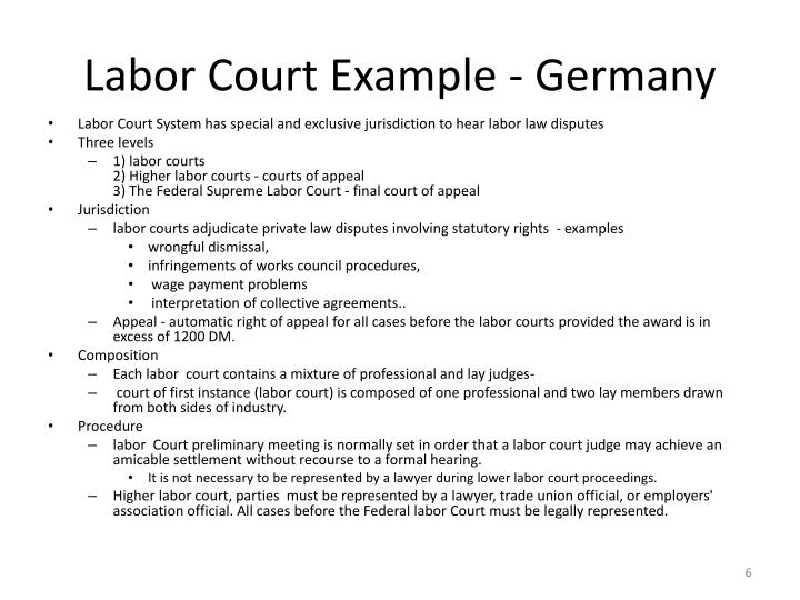 Labor Court Example - Germany