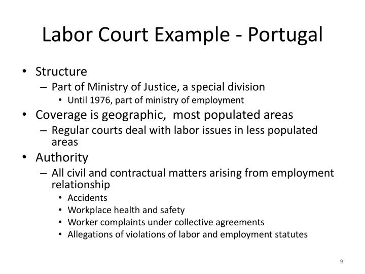 Labor Court Example - Portugal