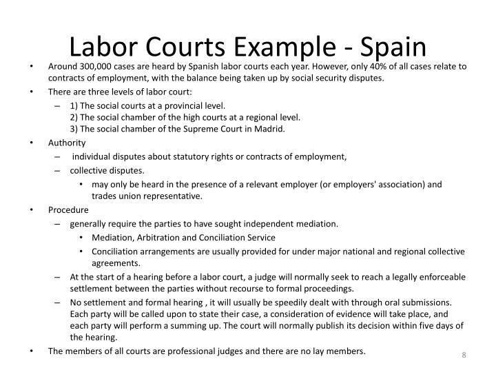 Labor Courts Example - Spain
