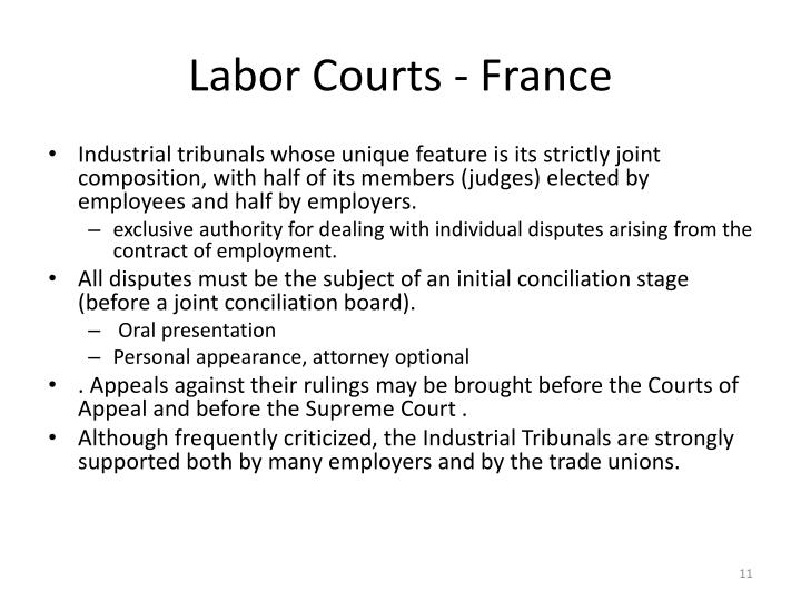 Labor Courts - France