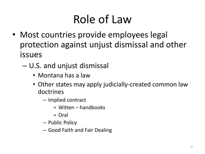 Role of Law