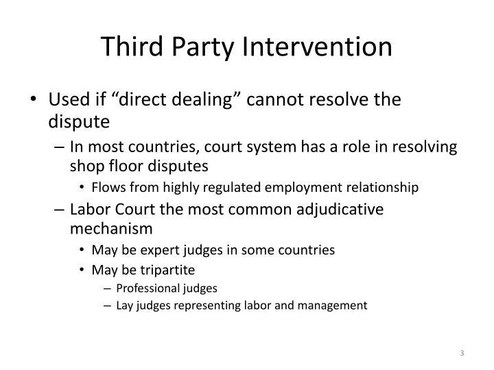 Third Party Intervention