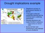 drought implications example