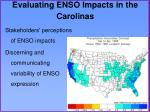 evaluating enso impacts in the carolinas