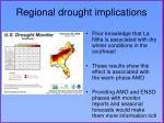 regional drought implications
