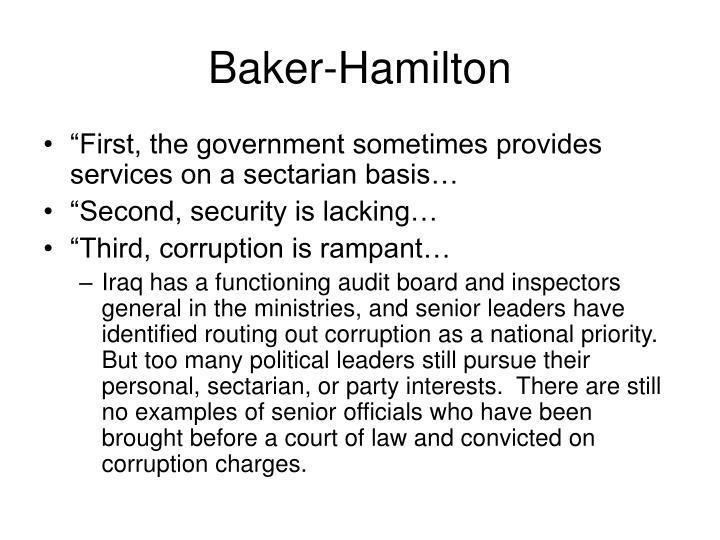 Baker-Hamilton