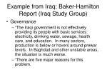 example from iraq baker hamilton report iraq study group