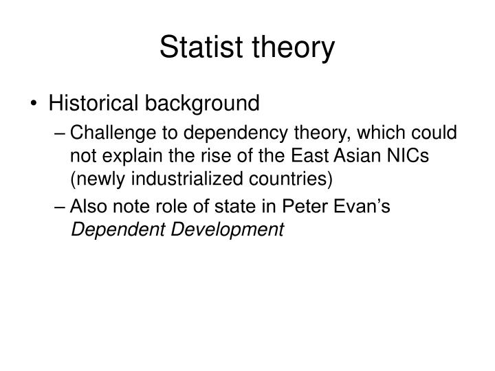 Statist theory