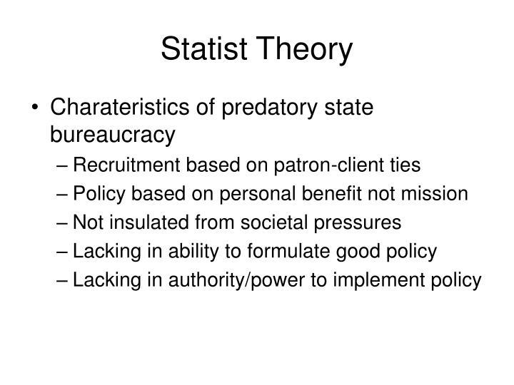 Statist Theory