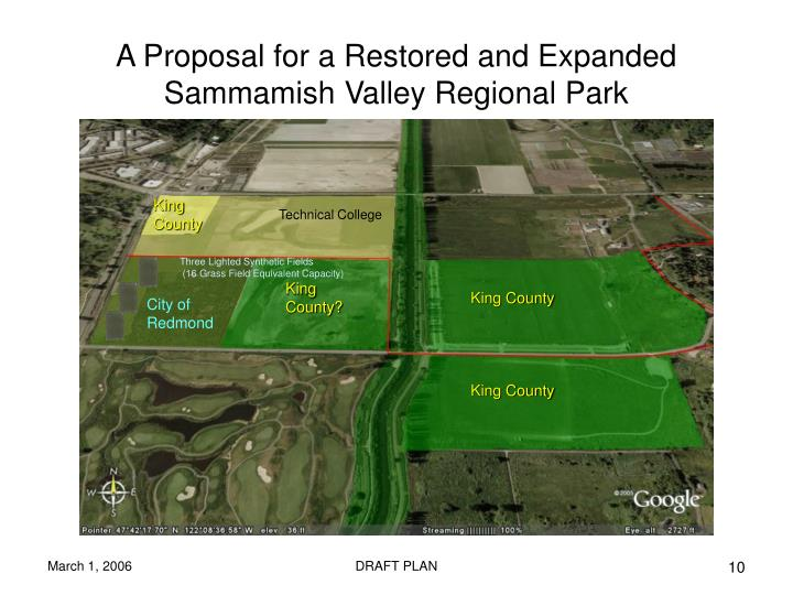 A Proposal for a Restored and Expanded Sammamish Valley Regional Park
