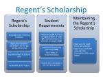 regent s scholarship