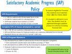 satisfactory academic progress sap policy