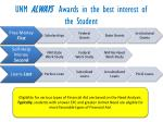 unm always awards in the best interest of the student