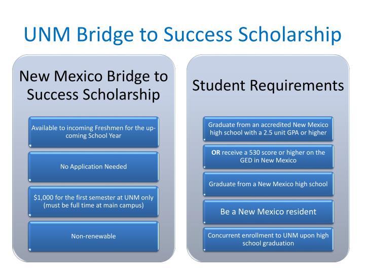 UNM Bridge to Success Scholarship