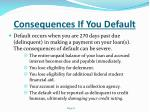 consequences if you default