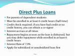 direct plus loans