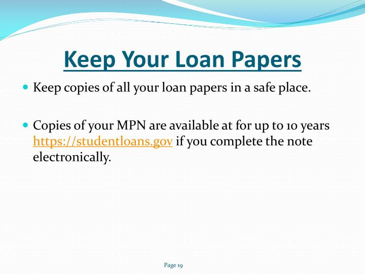 Keep Your Loan Papers