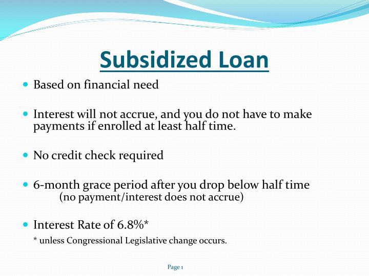 Subsidized Loan