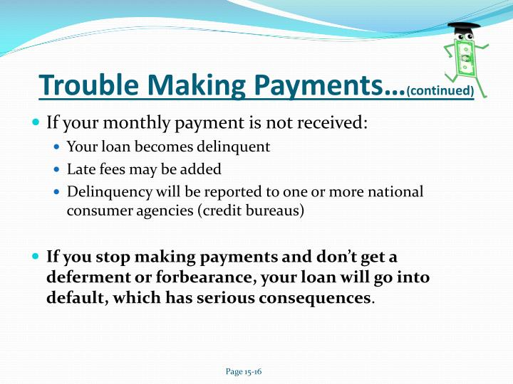 Trouble Making Payments…
