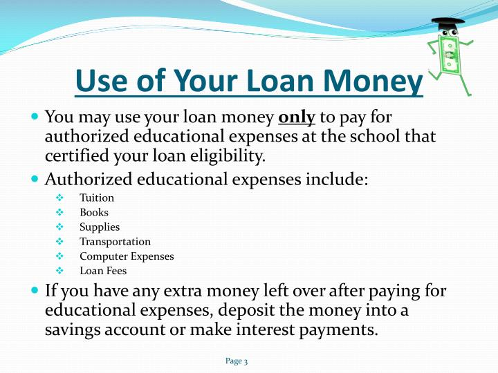 Use of Your Loan Money