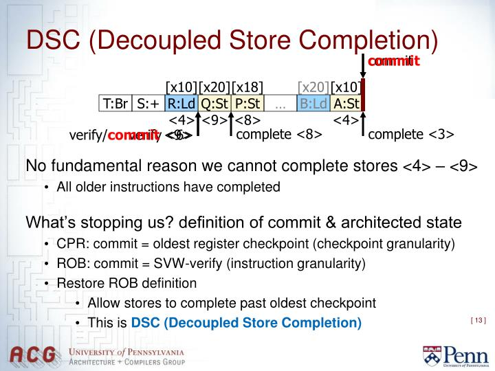 DSC (Decoupled Store Completion)