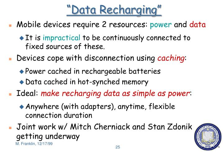 """Data Recharging"""