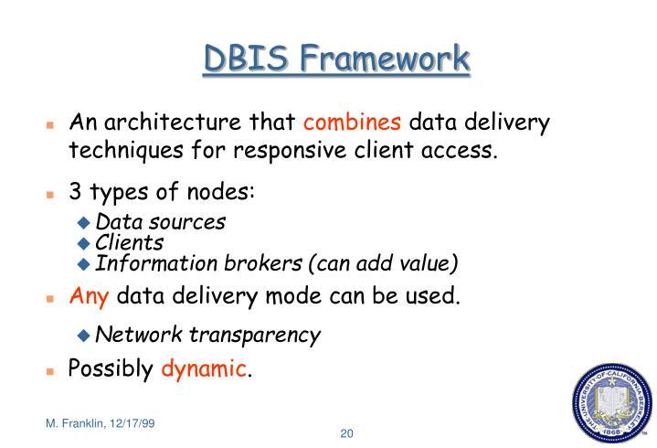 DBIS Framework