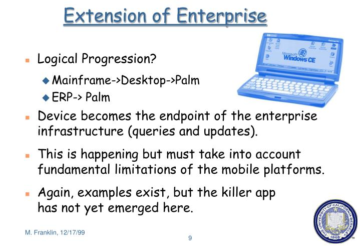 Extension of Enterprise