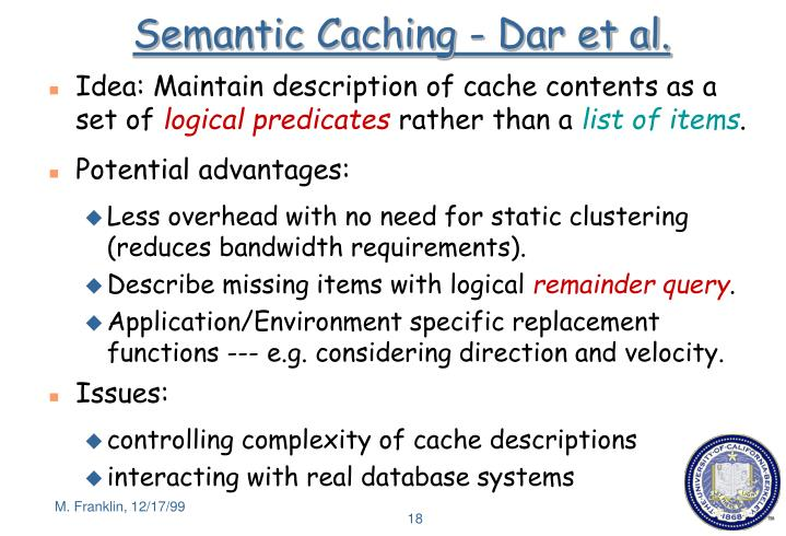Semantic Caching - Dar et al.