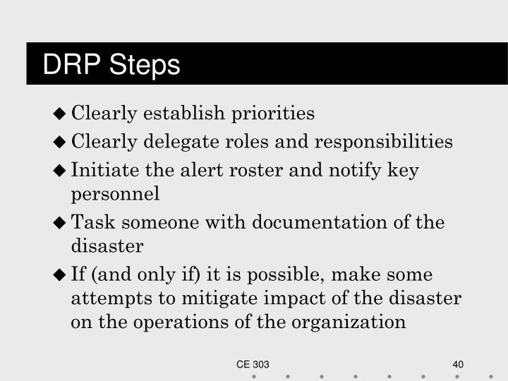 DRP Steps