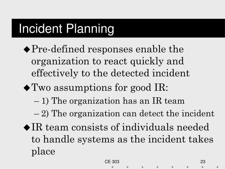Incident Planning