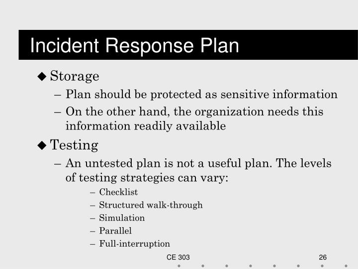 Incident Response Plan