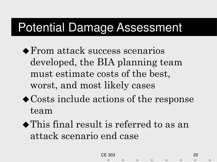 Potential Damage Assessment